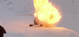 Norge Helicopter Explodes - The Thing (1982)