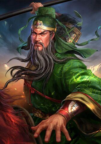 File:Guan Yu (battle Red Hare old) - RTKXIII.jpg