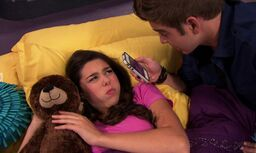 Max and Phoebe in Bed in School