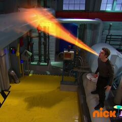 Max using heat breath on water pipe