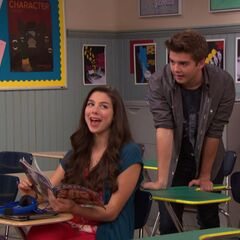 Phoebe and Max fun in class