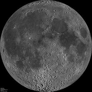 Moon nearside LRO