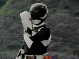 A black mighty morphin