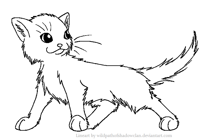 cute warrior cats coloring pages - photo#13