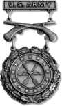 Excellence in Competition Pistol Shot Badge (Silver) (Army)