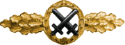 Air to Ground Support Fighters Clasp, Gold (Luftwaffe)
