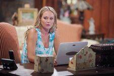 Sharon on her laptop