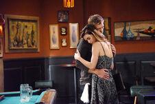 Victoria hugs Travis makes amends