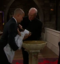 Charlie's christening