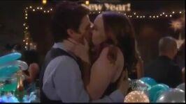 Kevin and Mariah's New year kiss