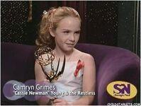 Cameryn wins the golden globe