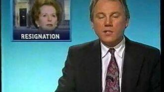 Thatcher Resigns - Six O'clock News 22.11