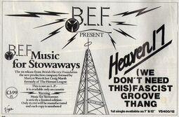 Smash Hits March 19, 1981 - p.22 BEF H17 half page ad