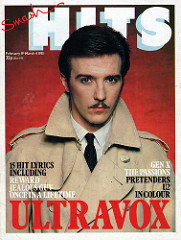 Smash Hits, February 19, 1981 01 Midge Ure cover