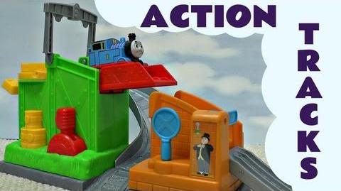 Thomas and Friends Action Tracks Thomas The Tank Engine Train Set Kids Toy Funny Bloopers