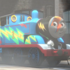 Thomas with lightning bolts