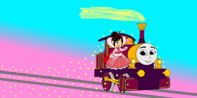 File:Lady & Princess Vanellope spread out Gold Dust.png