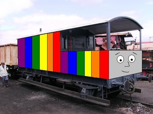 Charlie the rainbow brakevan