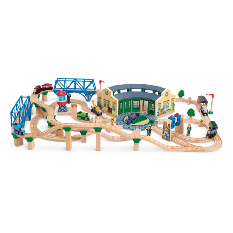 Wooden Railway Tidmouth Sheds Deluxe Set.Thomas Friends Wooden ...