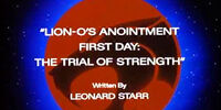 Lion-O's Anointment First Day: The Trial of Strength