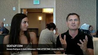 Genesis Rodriguez & Kevin Williamson TIME AFTER TIME Interview Comic Con 2016