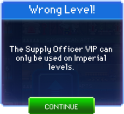 Supply Officer wrong level