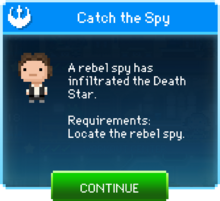 Message Catch the Spy Han Solo