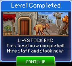 Message Livestock Exc Complete