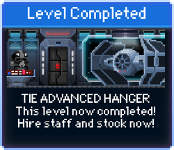 Message TIE Advanced Hangar Complete