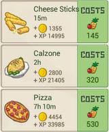 RecipeMenu PizzaShop