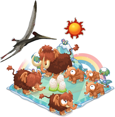 File:Mammoth Diorama with Pterodactylus.png