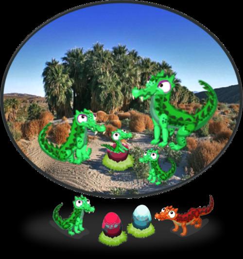 GreenKaprosuchus Diorama