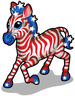 Stars & stripes zebra single