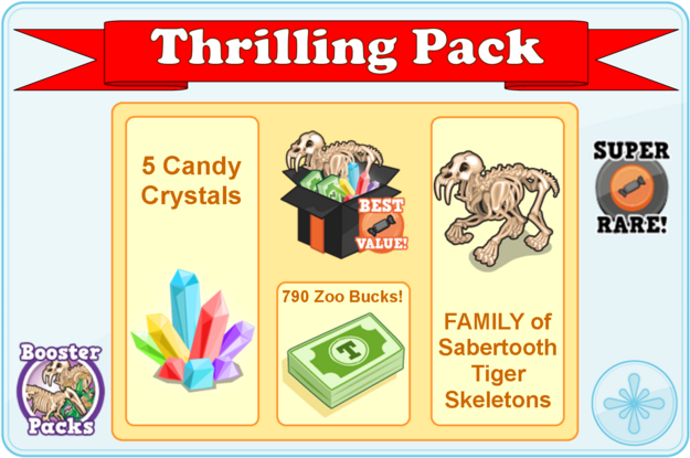 Thrilling pack modal