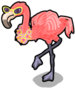 Luau flamingo single