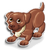 Goal chocolate labrador icon