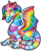 Crystal rainbow dragon single