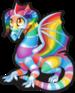 Crystal rainbow dragon single
