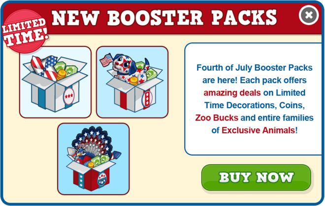 July booster pack modal
