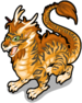 Ancient tiger dragon single