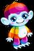 Cubby monkey rainbow single