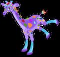 Rainbow giraffe an