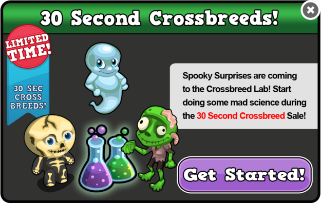 Spooky 30 second breed modal