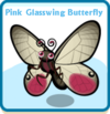Pink glasswing butterfly card