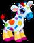Cubby giraffe rainbow single