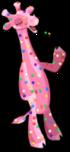 Frosted giraffe an