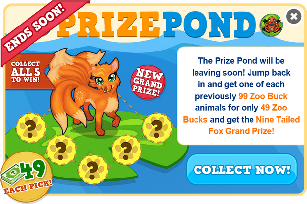 Prize pond nine tailed fox ends soon modal