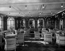 Veranda café on RMS Olympic