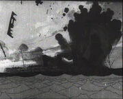 The Sinking of the Lusitania Ship beinging torpedoed