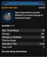 Grenade-pineapple shred
